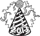 New Year 2013 party hat