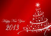 2013 new years illustration with christmas tree