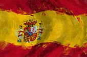 Flag of Spain abstract painting background