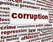 Corruption political poster