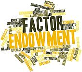 Word cloud for Factor endowment