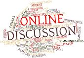 Word cloud for Online discussion