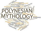 Word cloud for Polynesian mythology