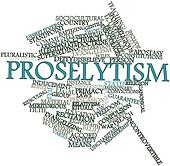 Word cloud for Proselytism