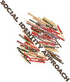 Word cloud for Social identity approach
