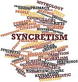 Word cloud for Syncretism