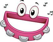 Tambourine Mascot