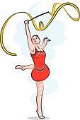 rhythmic gymnastics - ribbon