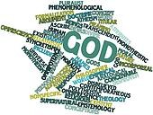 Word cloud for God