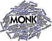 Word cloud for Monk