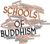 Word cloud for Schools of Buddhism