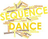 Word cloud for Sequence dance
