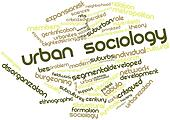 Word cloud for Urban sociology