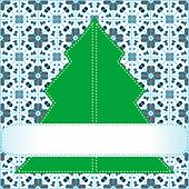 Christmas tree applique background
