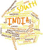Word cloud for South India
