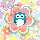 cute owl and flower pattern