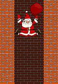 Falling Santa Claus