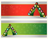 Merry Christmas website header and banner