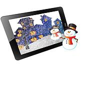 Christmas of frame on tablet