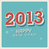 Happy new year 2013 typographic car