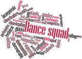 Word cloud for Dance squad