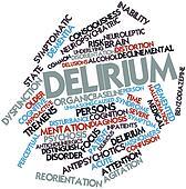 Word cloud for Delirium