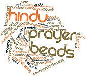 Word cloud for Hindu prayer beads