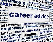 Career advice employment poster design