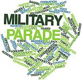 Word cloud for Military parade