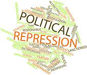 Word cloud for Political repression