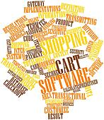 Word cloud for Shopping cart software
