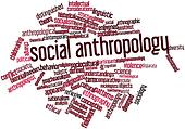 Word cloud for Social anthropology