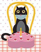 Cat's birthday celebration