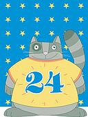 Cat is 24 years old