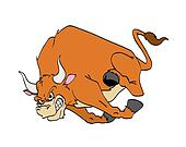 Bull Charging