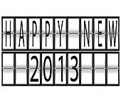 happy New Year 2013 Set of letters