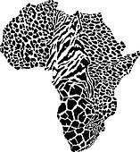 Africa in a animal camouflage
