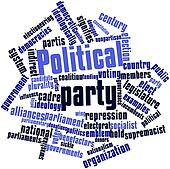 Word cloud for Political party