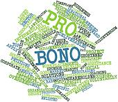 Word cloud for Pro bono