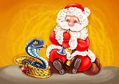 Santa - Snake charmer.