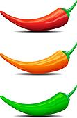 Three Chillies Peppers illustration