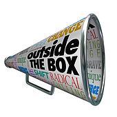 Outside the Box Megaphone Bullhorn Change Innovation