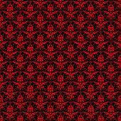 Seamless Black & Red Damask