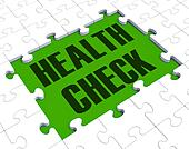 Health Check Puzzle Shows Health Care