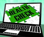 Health Check On Laptop Shows Well Being