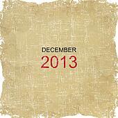 2013 Calendar Old Paper Design - December
