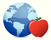 healthy eating around the globe concept