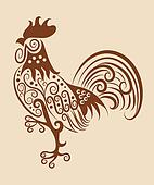 Vintage rooster ornament