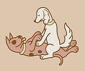 Erotic couple dogs version 3