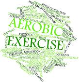Word cloud for Aerobic exercise